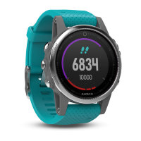 Fenix 5s silver turquoise