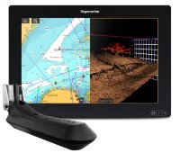 "Raymarine AXIOM 12 RV, Multi-function 12"" Display with integrated RealVision 3D, 600W Sonar with RV-100 transducer"